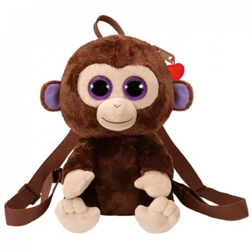 ty Beanie Boos Χνουδωτό Τσαντάκι Πλάτης Coconut Μαϊμουδάκι 1607-95002 008421950027
