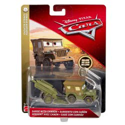 Mattel Disney/Pixar Cars 3 Deluxe Sarge With Cannon Oversized DXV90 / DXV98 887961403602