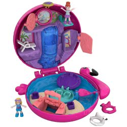 Mattel Polly Pocket Ο Κόσμος Της Polly Σετάκια - Flamingo Floatie Compact FRY35 / FRY38 887961638202