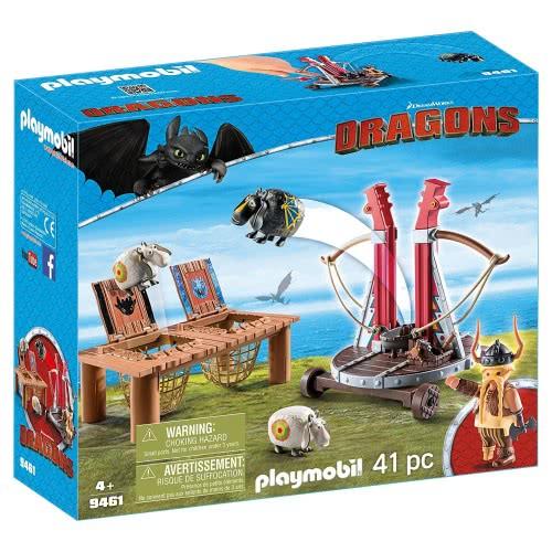 Playmobil Dragons Ο Σκόρδος με Καταπέλτη Προβάτων 9461 4008789094612