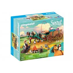 Playmobil Spirit Luckys Dad And Wagon 9477 4008789094773