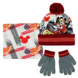 Cerda Disney Mickey Mouse Scarf, Hat and Gloves 2200003195 8427934199730