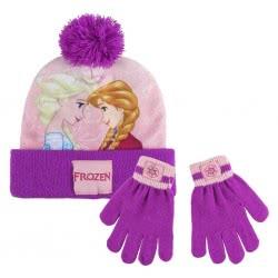 Loly Disney Frozen Σετ Σκούφος - Γάντια, Ροζ - Μωβ 2200003216 8427934199945