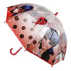 Loly Miraculous Ladybug Ομπρέλα Παιδική Κόκκινη Διάφανη 70 Εκ 2400000368 8427934994038