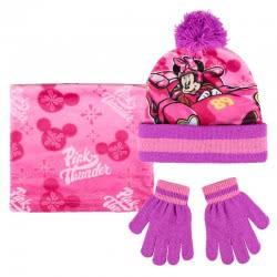 Cerda Disney Minnie Mouse Scarf, Hat and Glove Set, Pink 2200003198 8427934199761