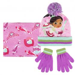 Cerda Princess Nella Scarf, Hat And Glove Set, Pink 2200003275 8427934200849