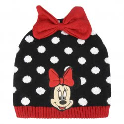 Loly Disney Minnie Mouse Winter Hat, Black - Red 2200003313 8427934202720