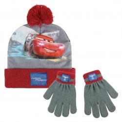 Cerda Cars 3 Winter Hat And Gloves, Grey - Red 2200003212 8427934199907