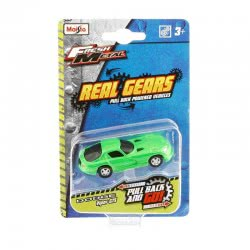 Maisto Fresh Metal Real Gears Vehicles Pull Back - 6 Designs 15395 090159153955
