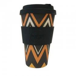 ecoffee cup Ecoffee Ποτήρι Bamboo με καπάκι 400ml Zignzag 600121 5060136005039