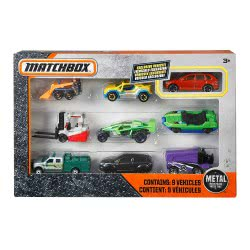MATCHBOX 9 Car Gift Pack X7111 746775159702