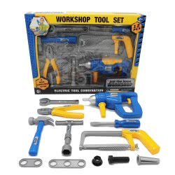 Toys-shop D.I Εργαλεία Σετ 12Τεμ Με Τρυπάνι Μπαταρίας JU041331 6990718413312