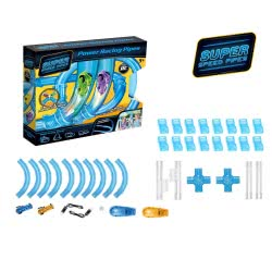 Toys-shop D.I Power Racing Tubes Πίστα με αυτοκινητάκια (σετ 52 τεμάχιων) JF061478 6990718614788