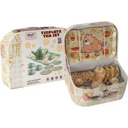 OEM Κουζινικά Σετ Τσάι Μεταλλικά σε Μπεζ Βαλιτσάκι Tinplate Tea Set 640266-555 6033950640266