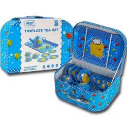 OEM Κουζινικά Σετ Τσάι Μεταλλικά Σε Μπλε Βαλιτσάκι Tinplate Tea Set 640297-555 6033950640297