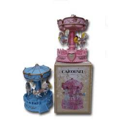 OEM Μουσικό Παιχνίδι Καρουζέλ Με Αλογάκια, Μουσική Φως - 2 Χρώματα 733210 5022849733227