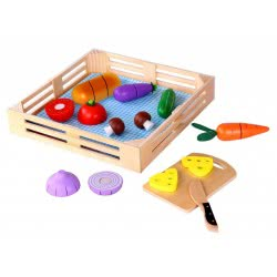 TOOKY TOY Cutting Vegetables Wooden Toy TKI015 6970090047626