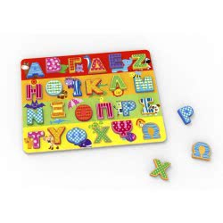 TOOKY TOY Wooden Multicolor Alphabet with Capital Letters TKG005 6970090049422