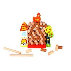 TOOKY TOY Jenga Farm - Wooden Farm with Back TKC572 6970090046964