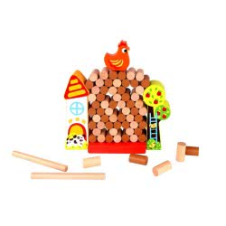 TOOKY TOY Jenga Farm - Wooden Farm with Back TKC572 6970090046964