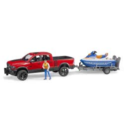 bruder Φορτηγάκι Αγροτικό Ram Με Τρέιλερ Και Jet Ski BR002503 4001702025038