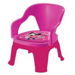 Diakakis imports Καρεκλάκι Πλαστικό Με Μαξιλάρι Minnie Mouse 0560487 5205698166075