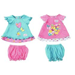 Zapf Creation Baby Born Σετ Ρούχων Με Πεταλούδες Butterfly - 2 Σχέδια ZF823552 4001167823552