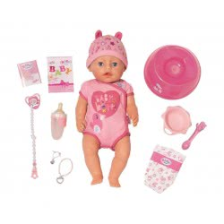 Zapf Creation Baby Born Διαδραστική Κούκλα Με Απαλό Δέρμα Και Αξεσουάρ 43Εκ. ZF824368 4001167824368