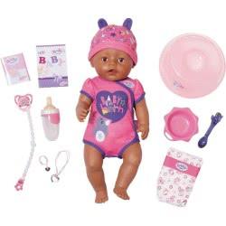 Zapf Creation Baby Born Διαδραστική Κούκλα Με Απαλό Δέρμα, Καφέ Μάτια Και Αξεσουάρ 43Εκ. ZF824382 4001167824382