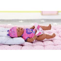 Zapf Creation Baby Born Interactive Doll With Soft Skin, Brown Eyes And Accessories 43 Cm ZF824382 4001167824382