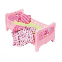 Zapf Creation Baby Born Κρεβάτι Ροζ με Στρώμα, Μαλακή Κουβέρτα και Μαξιλάρι ZF824399 4001167824399