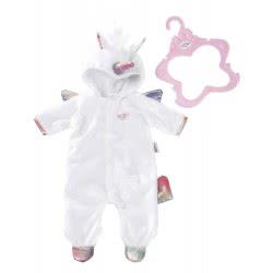 Zapf Creation Baby Born Onesie Unicorn ZF824955 4001167824955