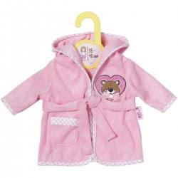Zapf Creation Dolly Moda Μπουρνουζάκι Ροζ Με Αρκουδάκι ZF870396 4001167870396