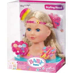Zapf Creation Baby Born Κεφάλι Sister Styling Head With 24 Accessories And Make-Up ZF824788 4001167824788