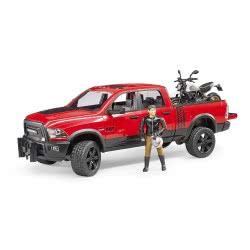 bruder RAM 2500 Φορτηγάκι Αγροτικό Με Μηχανή Ducati Off Road Και Αναβάτη BR002502 4001702025021