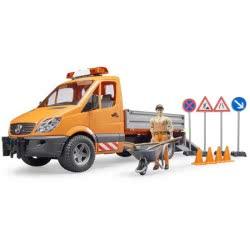 bruder Mercedes Benz Sprinter Φορτηγάκι Δημοτικών Εργασιών Με Εργάτη BR002537 4001702025373