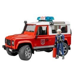bruder Land Rover Defender Πυροσβεστικό Όχημα Με Πυροσβέστη BR002596 4001702025960