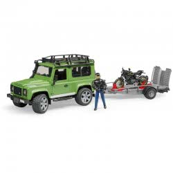 bruder Land Rover Defender Τετρακίνητο Με Τρέιλερ, Μηχανή Ducati Και Αναβάτη BR002598 4001702025984