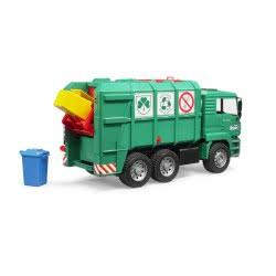 bruder MAN Απορριμματοφόρο Ανακύκλωσης Πράσινο BR002753 4001702027537