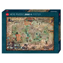HEYE Παζλ 2000 Pirate World Πειρατικός Χάρτης 29847 4001689298470