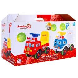 GLOBO Vitamina-G Ride On Car Με Φώτα, Ήχους Και Χερούλι Σε 2 Χρώματα 05195 8014966051954