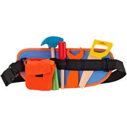 GLOBO Legnoland Ζώνη με ξύλινα εργαλεία 7τεμάχια 37340 8014966373407