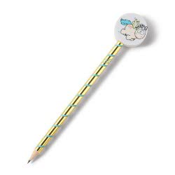 Nici Theodor And Friends Pencil With Eraser Unicorn Rainbow Flair - Gold 40986 4012390409864