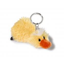 Nici Keyring Plush Lying Duck 10 Cm - Yellow 805-40451 4012390404517