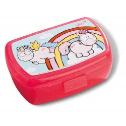 Nici Theodor and Friends Lunch Box Unicorns and Rainbow - Red 40742 4012390407426