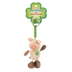 Nici Talisminis Be Lucky With Me Keychain Pig Brown - Pink 7 Cm 33688 4012390336887