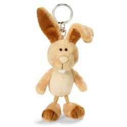 Nici Keyring Plush Rabbit 10 Cm - Brown 805-36508 4012390365085
