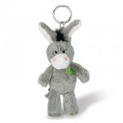 Nici Keyring Plush Donkey 10 Cm - Grey 805-37688 4012390376883