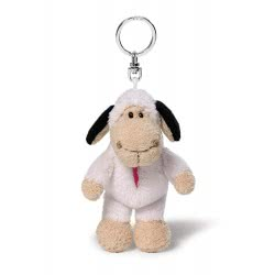 Nici Keyring Plush Sheep Jolly Tessa 10 Cm - Beige-White 40438 4012390404388