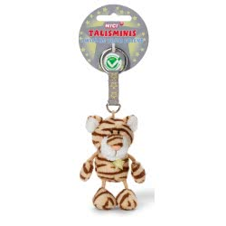 Nici Talisminis I Will Be Your Friend Keychain Tiger With Brown Stripes 7 Cm 37390 4012390373905